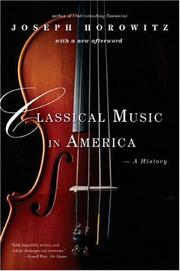Cover of: Classical Music in America