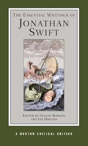 Cover of: The Essential Writings of Jonathan Swift: authoritative texts, contexts, criticism