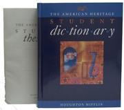 Cover of: The American Heritage Student Dictionary and The American Heritage Student Thesaurus Set | Editors of The American Heritage Dictionaries