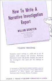 Cover of: How to write a narrative investigation report