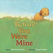 Cover of: Before you were mine