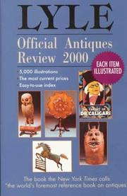 Cover of: Lyle Official Antiques Review 2000 (Lyle) | Anthony Curtis