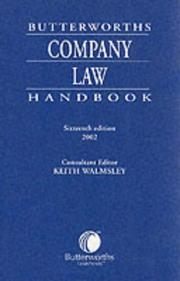 Cover of: Butterworths Company Law Handbook