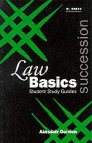 Cover of: Succession (Green's Law Basics)