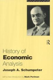 Cover of: History of Economic Analysis