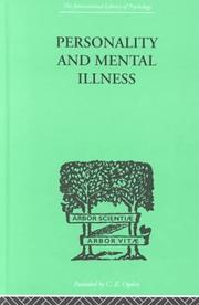 Cover of: Personality and mental illness