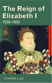 Cover of: The Reign of Elizabeth I (Questions and Analysis in History)