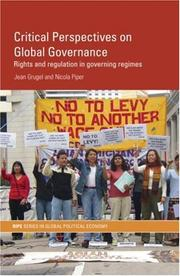 Cover of: Critical Perspectives on Global Governance | Jean Grugel