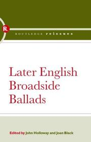 Cover of: Later English Broadside Ballads