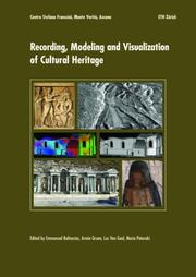 Cover of: Recording, Modeling and Visualization of Cultural Heritage |