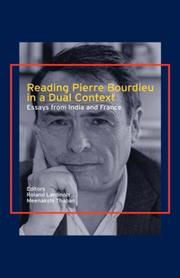 Cover of: Reading Pierre Bourdieu in a Dual Context |
