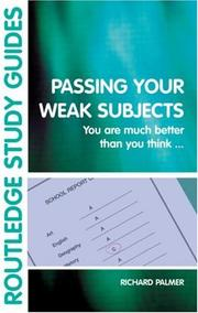 Cover of: Passing Your Weak Subjects