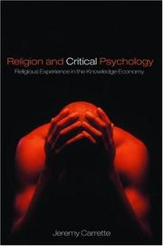 Cover of: Religion and Critical Psychology | Jeremy Carrette