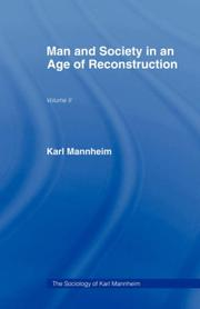 Cover of: MAN & SOC AGE RECONSTRUCTN V 2