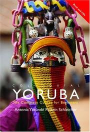 Cover of: Colloquial Yoruba (Colloquial) | Ant Schleicher
