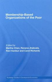 Cover of: Membership Based Organizations of the Poor | Chen/Jhabvala/K
