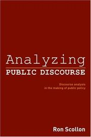Cover of: Analyzing Public Discourse