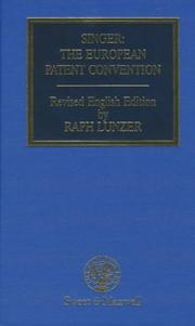 Cover of: The European Patent Convention
