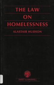 Cover of: The Law on Homelessness