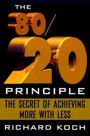 Cover of: The 80/20 principle by Koch, Richard