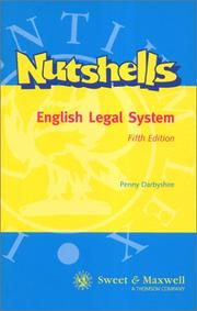 Cover of: English Legal System (Nutshells)