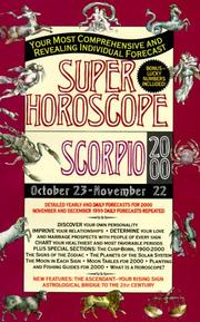 Cover of: Scorpio 2000 | Astrology World