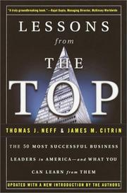Cover of: Lessons from the top | Thomas J. Neff