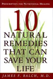 Cover of: Ten Natural Remedies That Can Save Your Life