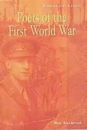Cover of: Poets of the First World War (Creative Lives)