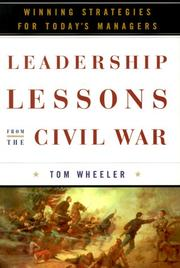 Cover of: Leadership lessons from the Civil War