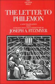 Cover of: The Letter to Philemon | Fitzmyer, Joseph A.