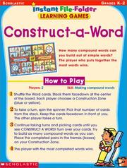 Cover of: Construct-a-Word (Instant File-Folder Games, Grades K-2) | Scholastic Inc.