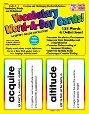 Grades 4-5 Vocabulary Word-a-day Card Set
