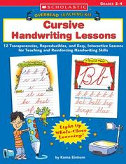 Cover of: Cursive Handwriting Lessons