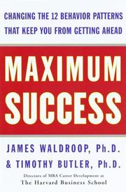 Cover of: Maximum success by