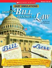 Cover of: Easy Simulations: How a Bill Becomes a Law | Pat Luce