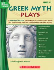 Cover of: Greek Myth Plays