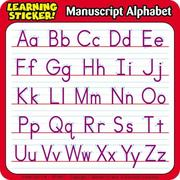 Cover of: Manuscript Alphabet Learning Stickers