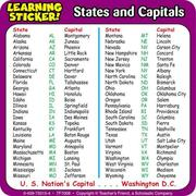 Cover of: States and Capitals Learning Stickers