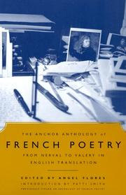 Cover of: The Anchor Anthology of French Poetry: From Nerval to Valery in English Translation
