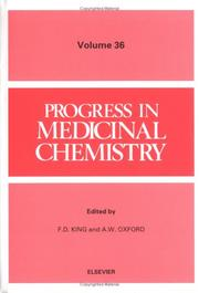 Cover of: Progress in Medicinal Chemistry  | F. D., Ed. King