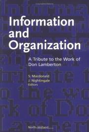 Cover of: Information and Organization