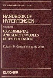 Cover of: Experimental and Genetic Models of Hypertension