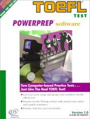 Cover of: Toefl Powerprep Software | Educational Testing Service.