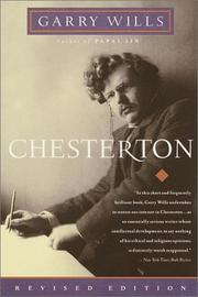 Cover of: Chesterton | Garry Wills