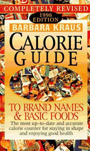 Cover of: Barbara Kraus' Calorie Guide To Brand Names and Basic Foods1996