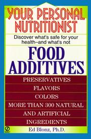 Cover of: Your Personal Nutritionist | Ed Blonz