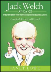 Cover of: Jack Welch Speaks