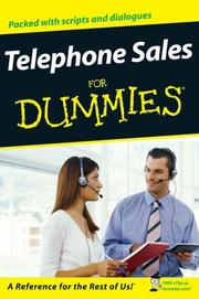 Cover of: Telephone Sales For Dummies | Dirk Zeller