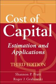 Cover of: Cost of capital
